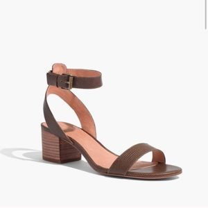 Madewell Alice Embossed Leather Sandal Heel 9.5